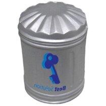 Antiestrés con forma de cubo de la basura