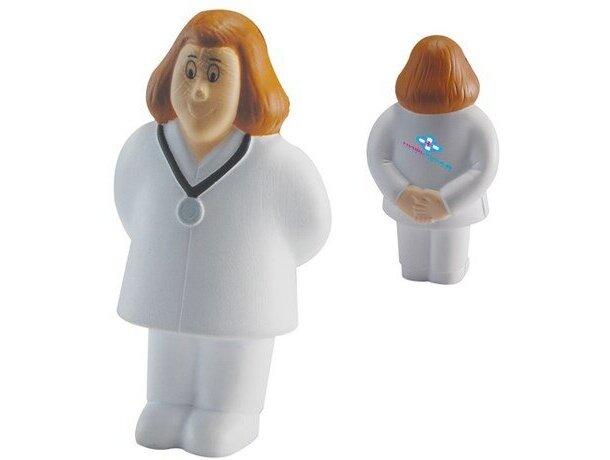 Antiestrés con forma de doctora personalizado