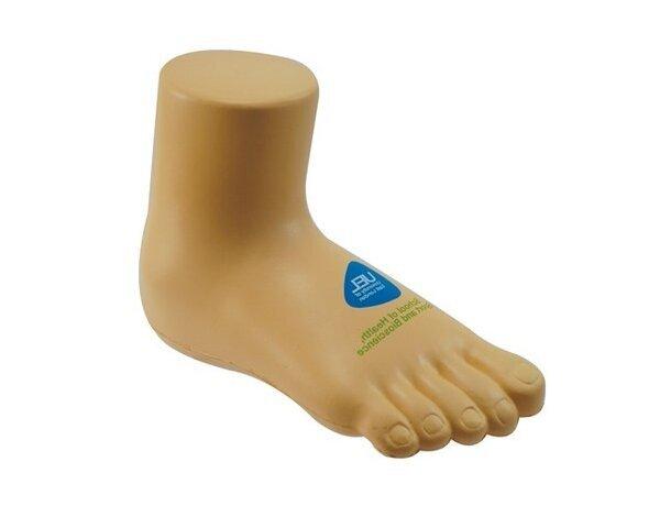 Antiestrés con forma de pie personalizado