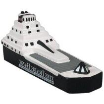Barco antiestrés en color blanco y negro personalizado