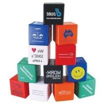 Cubo antiestrés de colores personalizado