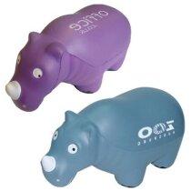 Antiestrés con forma de rinoceronte de colores personalizado