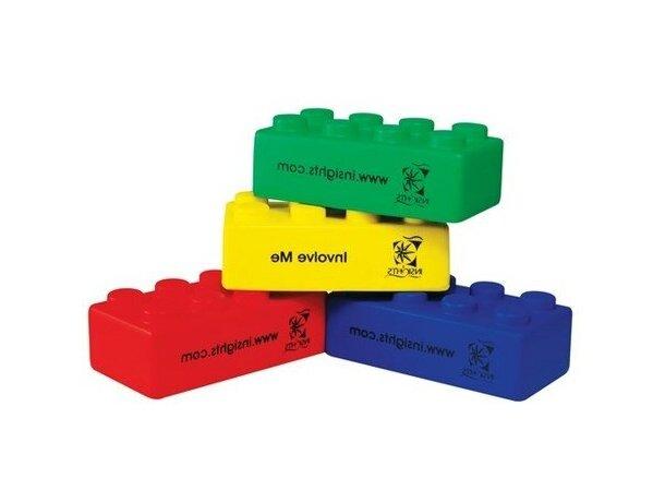Antiestrés con forma de bloques de colores personalizado