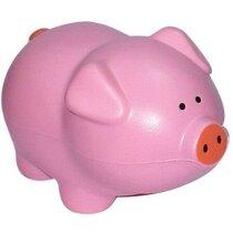 Cerdo antiestrés en color rosa personalizado