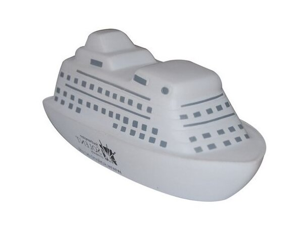 Antiestrés en forma de barco color blanco personalizado