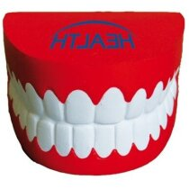Antiestrés con forma de dentadura personalizada