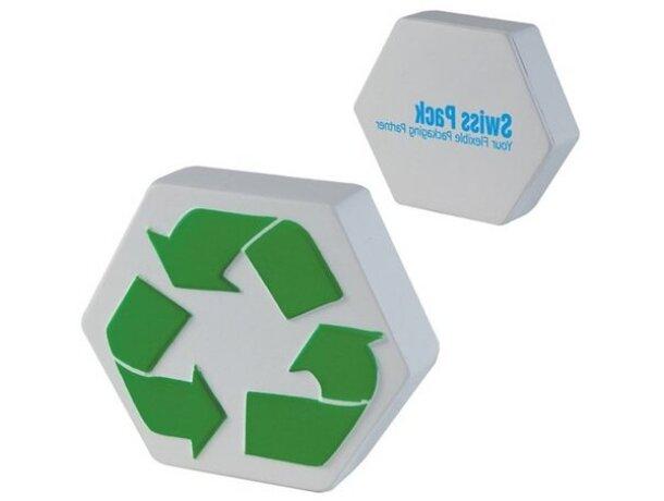 Antiestrés con símbolo de reciclaje personalizado
