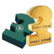 Antiestrés símbolo de la libra personalizado