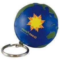 Antiestrés llavero globo del mundo personalizado