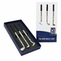 Estuche con bolígrafos en forma de golf personalizado