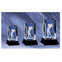 Trofeo de cristal para golfista personalizado