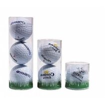 Cilindros de plástico pelotas de golf personalizado