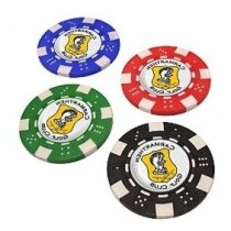 Fichas de póker con marcador de golf