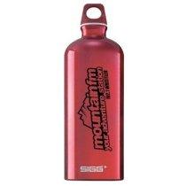 Botella reutilizable de aluminio personalizada roja