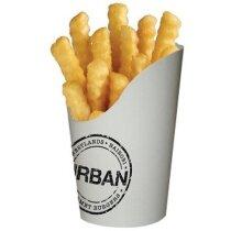 Caja Para Patatas Fritas personalizada blanca
