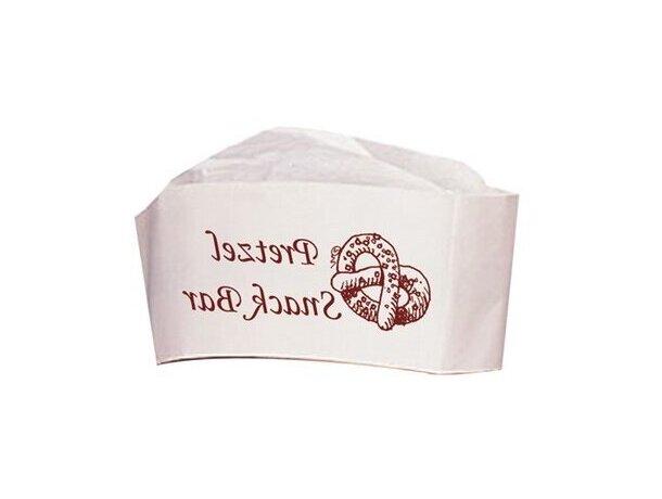 Gorro de chef resistente para cocinar en papel personalizado blanco