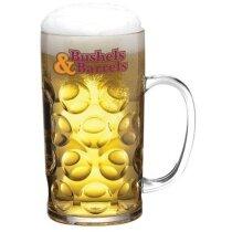 Jarra de cerveza de plástico desechable personalizada