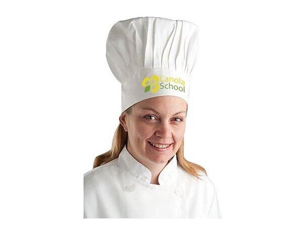 Gorro clásico para chef personalizado blanco