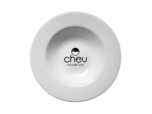 Plato de Sopa 28cm personalizado blanco