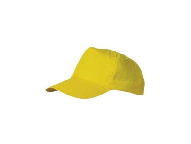 Gorra de algodón fino para serigrafiar personalizada amarilla