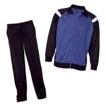 Chandal De Poliester Pantalon Recto Y Chaqueta Combinada Grabado Azul