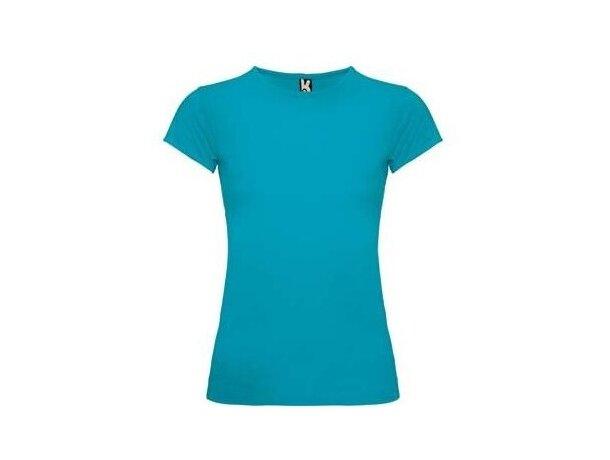 Camiseta modelo Bali de Roly de mujer personalizada azul