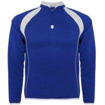 Sudadera deportiva ajustada grabada azul