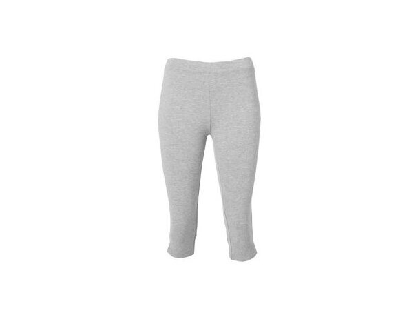Mallas deportivas de mujer poliester algodón gris claro