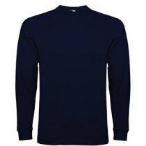 Camiseta manga larga unisex  Pointer de Valento 165 gr personalizada azul