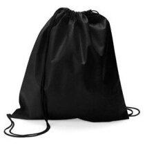 Bolsa saco con cierre de cordón ajustable negra
