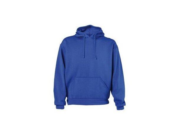 Sudadera con capucha y dos bolsillos grandes merchandising azul