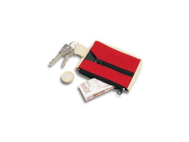 Monedero combinado en poliester y pvc grabado