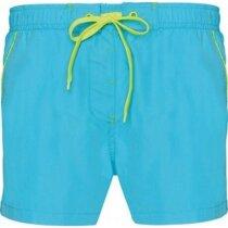 Bañador grabada corto de hombre personalizado azul claro