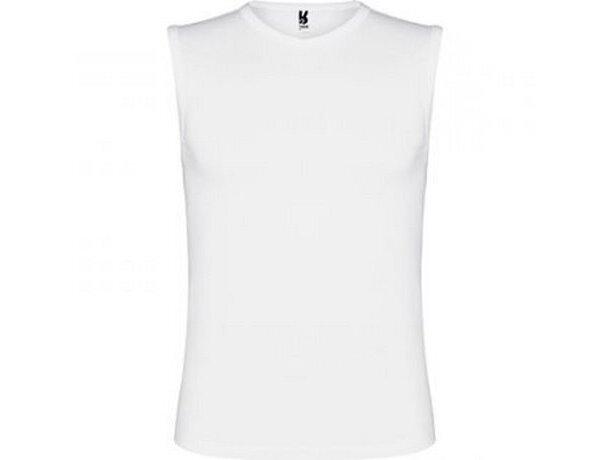 Camiseta sin mangas unisex tejido mixto blanca