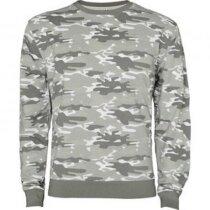 Sudadera camuflaje para hombre personalizada gris claro