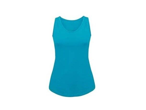 Camiseta sin mangas corte entallado personalizada azul