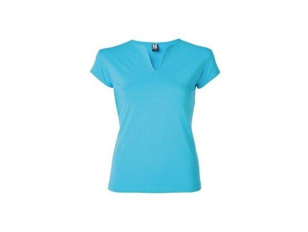 Camiseta entallada de mujer ajustada azul