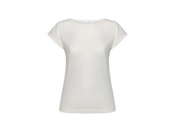 Camiseta blanca para sublimación de mujer
