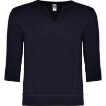 Camiseta unisex manga larga cuello en V 150 gr