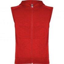 Chaleco deportivo 100% algodón con capucha