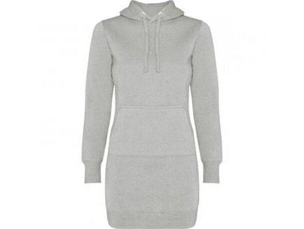 Vestido sudadera con capucha de mujer gris claro