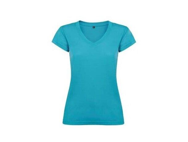 Camiseta de mujer cuello V de Valento azul