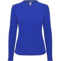 Camiseta de mujer manga larga técnica 135 gr personalizada azul