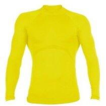 Camiseta manga larga técnica deportiva amarilla