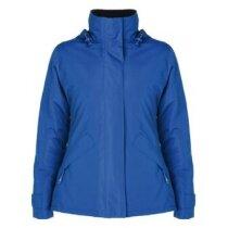 Parka de mujer acolchada personalizada azul
