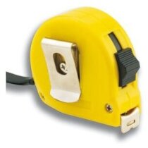 Flexómetro amarillo de 5 metros con freno personalizado