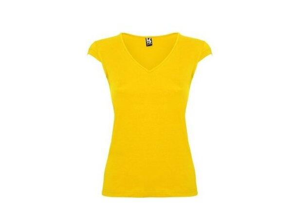 Camiseta de mujer Martinica de Roly personalizada amarilla