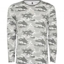 Camiseta camuflaje manga larga personalizada gris claro