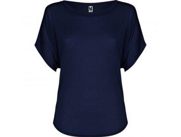 Camiseta de mujer diseño murciélago personalizada azul
