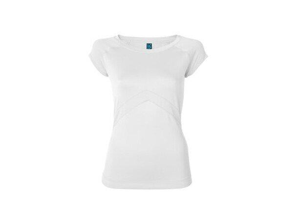 Camiseta técnica de mujer 180 gr blanca